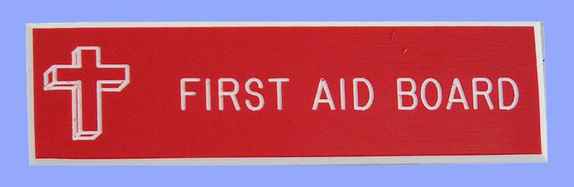 13u52 First Aid Board Badge