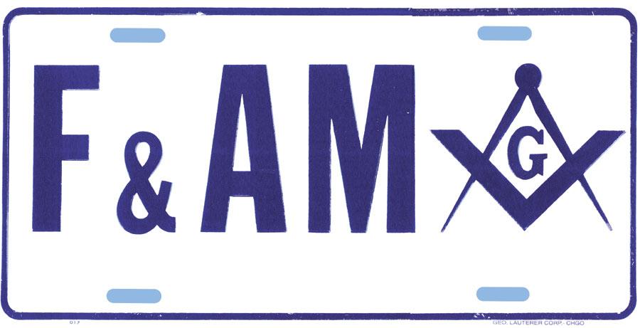 Mm40 License Plate Masonic F Amp Am
