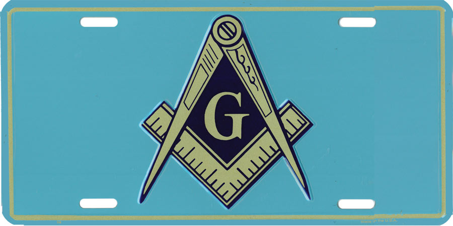 Mm43 License Plate Masonic Blue Background