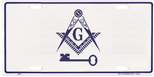 Im40 License Plate International Masonic With Key