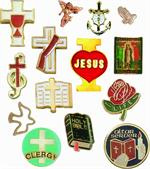 LAPEL PINS- STOCK RELIGIOUS