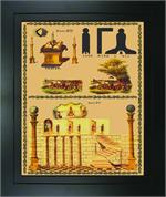 George lauterer corporation masonic wall plaques lecture charts mp12fc lecture chart plaque second lecture chart fc maxwellsz