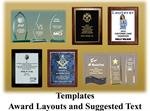 Templates - Award Layouts and Suggested Text