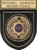 Uw 901 Usher Sunburst Molded Pocket Badge