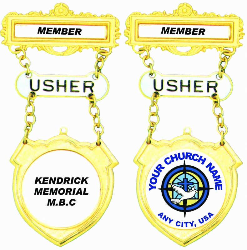 41BU USHER BADGE
