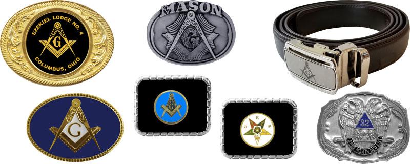 Masonic Knights Templar Shriner Blue Lodge Freemasons Fraternal  Belt /& Buckle