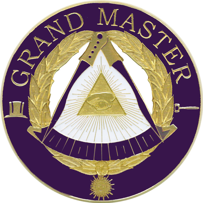 AEC-69-GM  Deluxe Cut-Out Auto Emblem - Grand Master