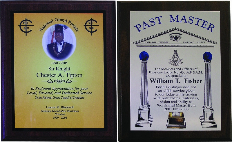 SP PLAQUE SUBLIMATED - MASONIC