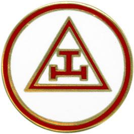 BJL-RAM889 - Royal Arch Masons Triple Tau Lapel Pin