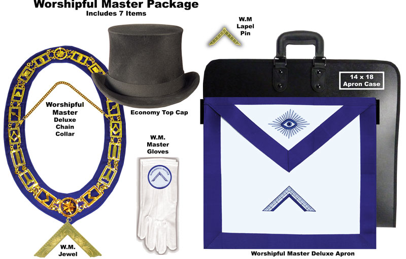 PACK-WMSTR-1 - Deluxe Package for the Worshipful Master