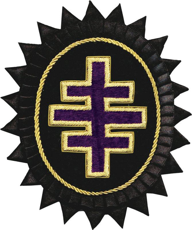 Rkt59 Past M E G Master Gr Enc Triple Cross Kt Rosette