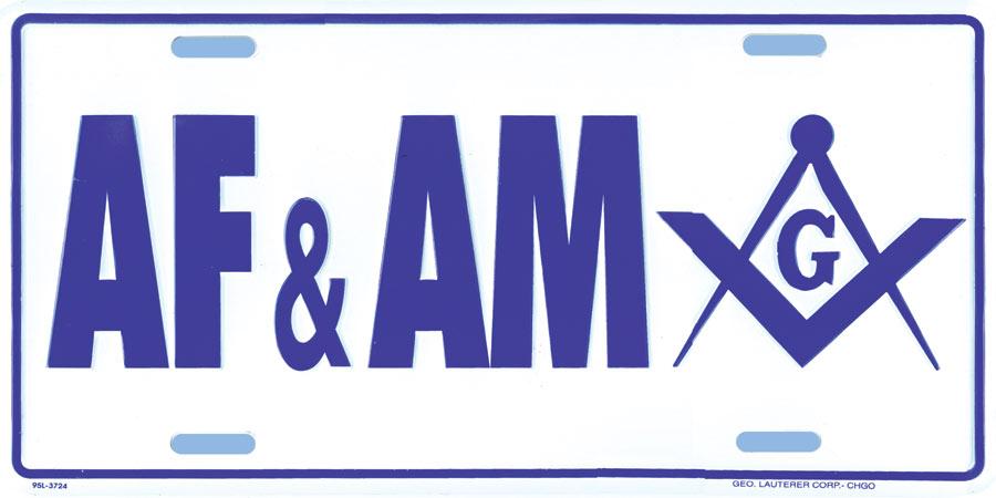 Mm40a License Plate Masonic Af Amp Am