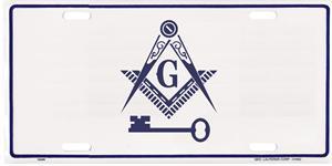 Im40 License Plate International Masonic With Key