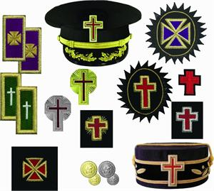 Templar Past Grand Master Chapeau Cross with Rosette in Mylar PGMR-M