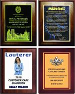 PLAQUES - LASERED & SUBLIMATED